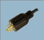 美式UL自锁电源线插头 XL1420P-A