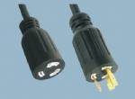 美规UL自锁电源线插头 XL520R-A